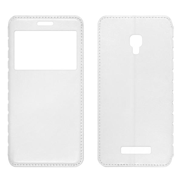 Lenovo A1000 чехол-книжка с окном белый