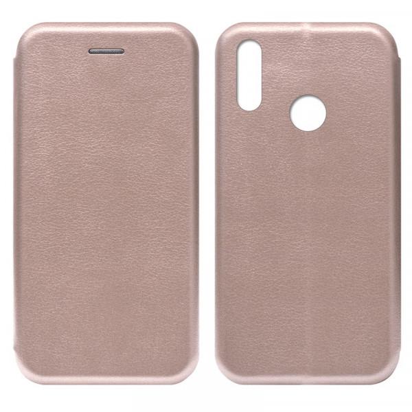 Huawei Honor 10 Lite Чехол-книжка с силиконовой вставкой + магнит, розовое золото
