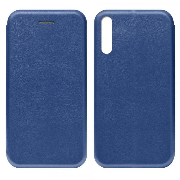 Huawei Honor 30i Чехол-книжка с силиконовой вставкой + магнит, синий