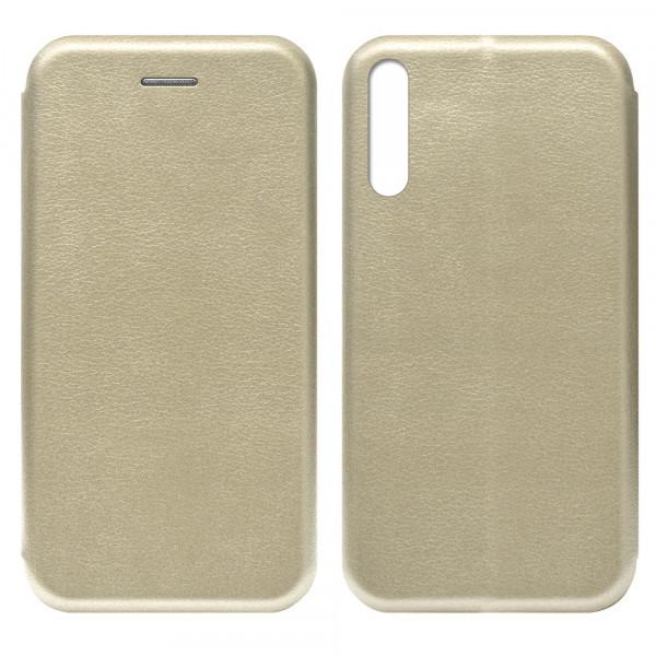 Huawei Y8p (2020) Чехол-книжка с силиконовой вставкой + магнит, золото