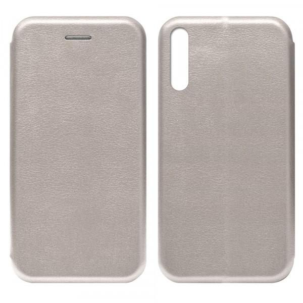 Huawei Y8p (2020) Чехол-книжка с силиконовой вставкой + магнит, розовое золото