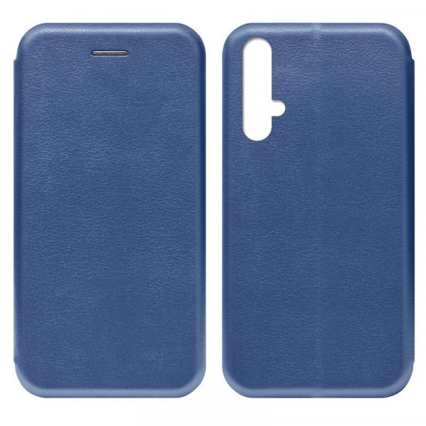 Huawei Honor 20 Чехол-книжка с силиконовой вставкой + магнит, синий