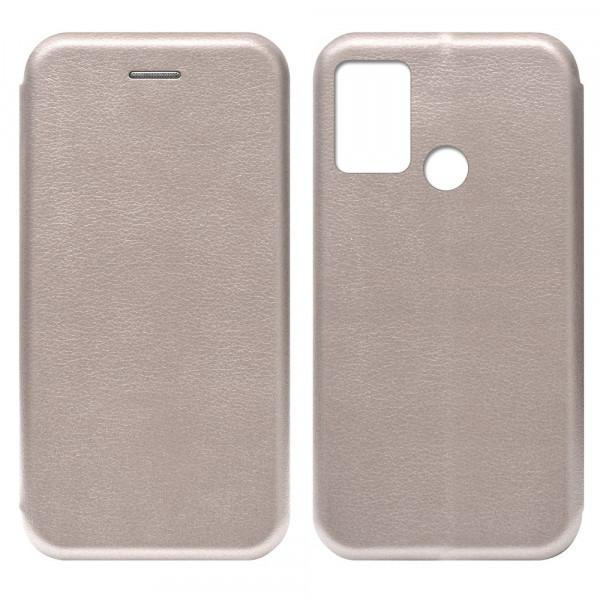 Huawei Honor 9A Чехол-книжка с силиконовой вставкой + магнит, розовое золото