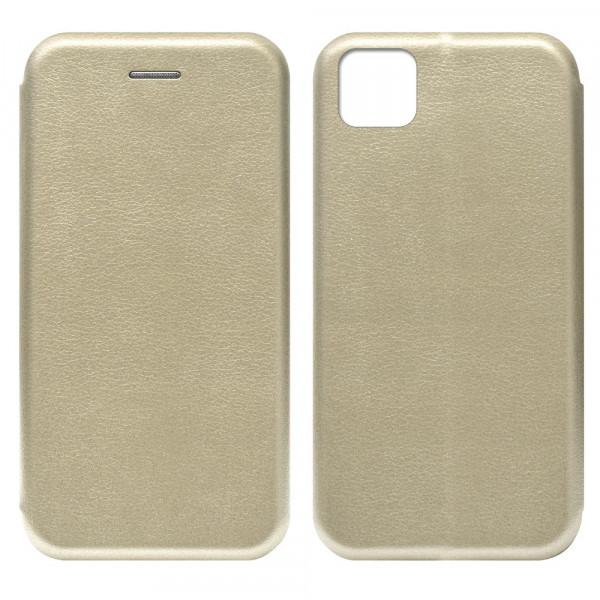 Huawei Honor 9s Чехол-книжка с силиконовой вставкой + магнит, золото