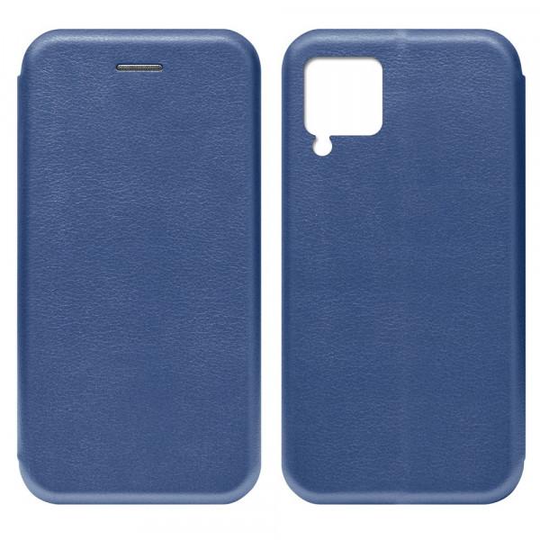 Huawei P40 Lite Чехол-книжка с силиконовой вставкой + магнит, синий