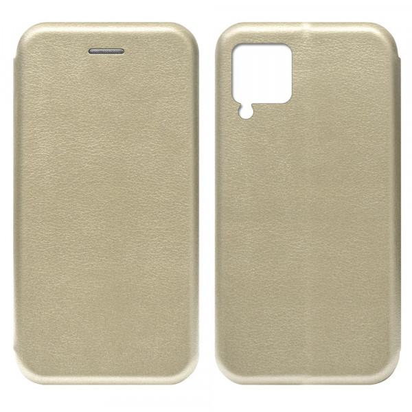 Huawei P40 Lite Чехол-книжка с силиконовой вставкой + магнит, золото