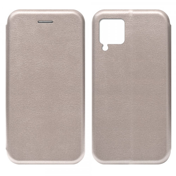 Huawei P40 Lite Чехол-книжка с силиконовой вставкой + магнит, розовое золото