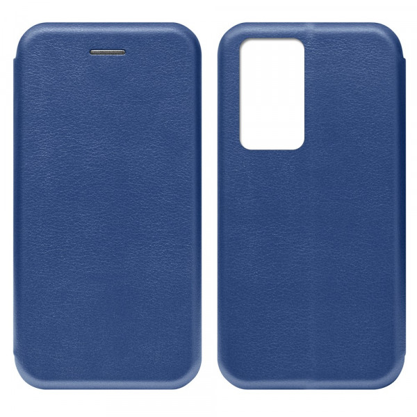 Huawei P40 Pro Чехол-книжка с силиконовой вставкой + магнит, синий