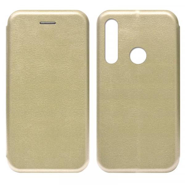 Huawei P40 Lite E / Honor 9C Чехол-книжка с силиконовой вставкой + магнит, золото