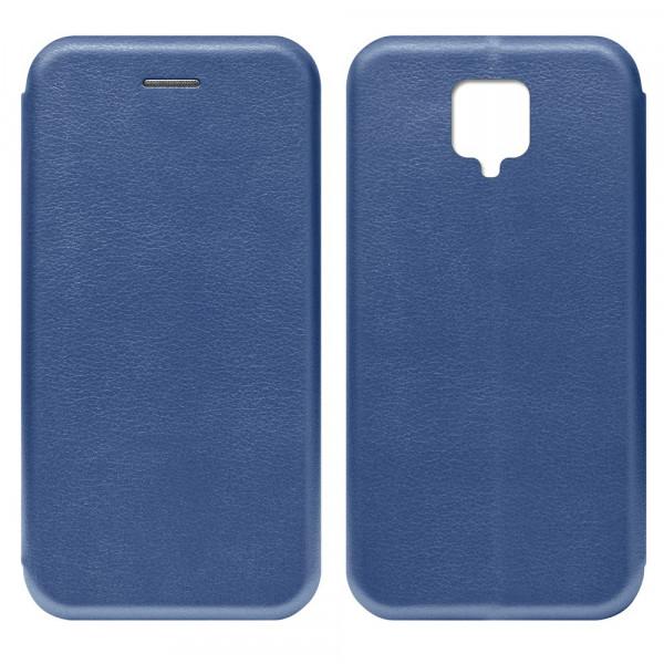 Xiaomi Redmi Note 9 Pro Чехол-книжка с силиконовой вставкой + магнит, синий