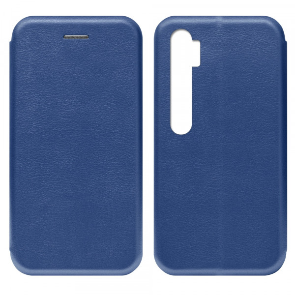 Xiaomi Redmi Note 10 Чехол-книжка с силиконовой вставкой + магнит, синий
