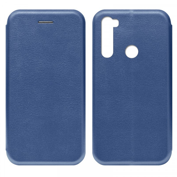 Xiaomi Redmi Note 8T Чехол-книжка с силиконовой вставкой + магнит, синий