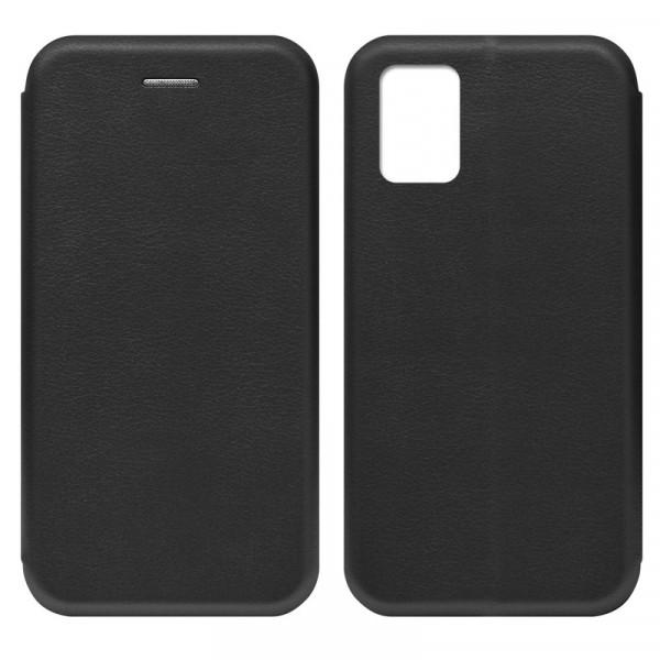 Samsung A41 Чехол-книжка с силиконовой вставкой + магнит, чёрный
