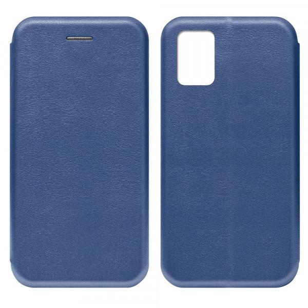 Samsung A41 Чехол-книжка с силиконовой вставкой + магнит, синий