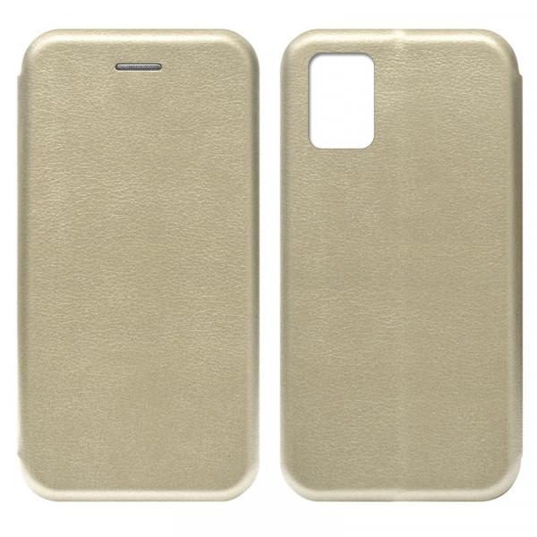Samsung A31 Чехол-книжка с силиконовой вставкой + магнит, золото