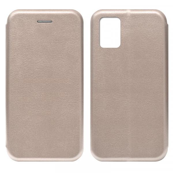 Samsung A31 Чехол-книжка с силиконовой вставкой + магнит, розовое золото