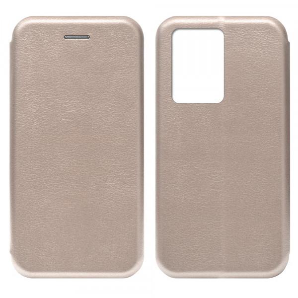Samsung S11+ Чехол-книжка с силиконовой вставкой + магнит CASE, розовое золото