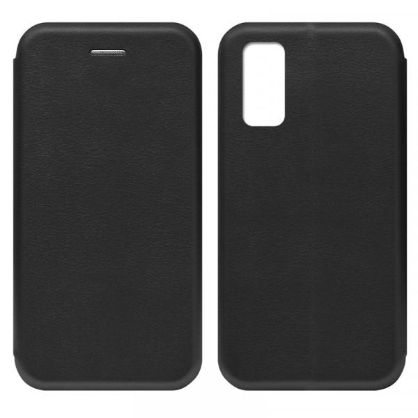 Huawei P40 Чехол-книжка с силиконовой вставкой + магнит, чёрный