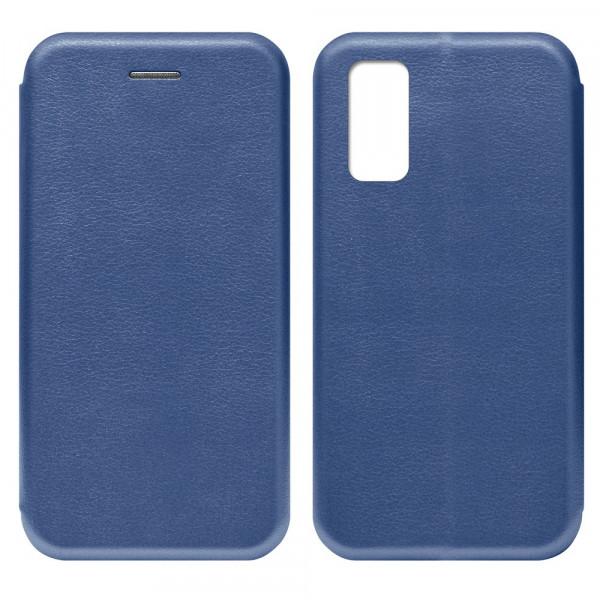 Samsung S20 FE Чехол-книжка с силиконовой вставкой + магнит, синий