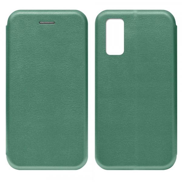 Huawei Honor 30 Pro Чехол-книжка с силиконовой вставкой + магнит, тёмно-зелёный