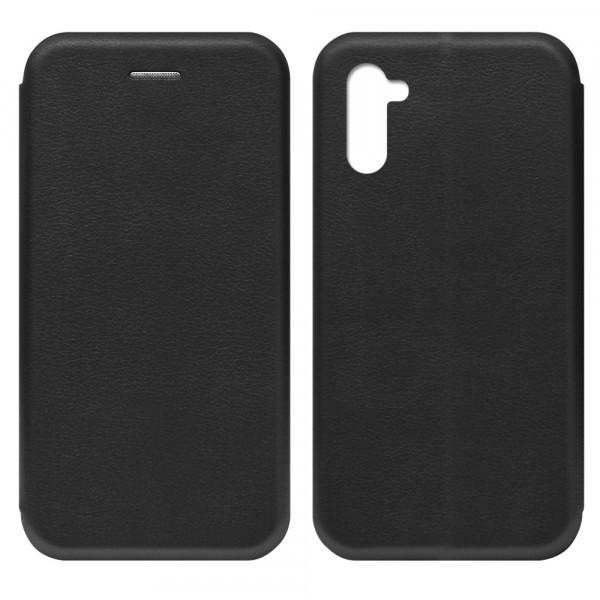 Samsung Note 10 Чехол-книжка с силиконовой вставкой + магнит CASE, чёрный