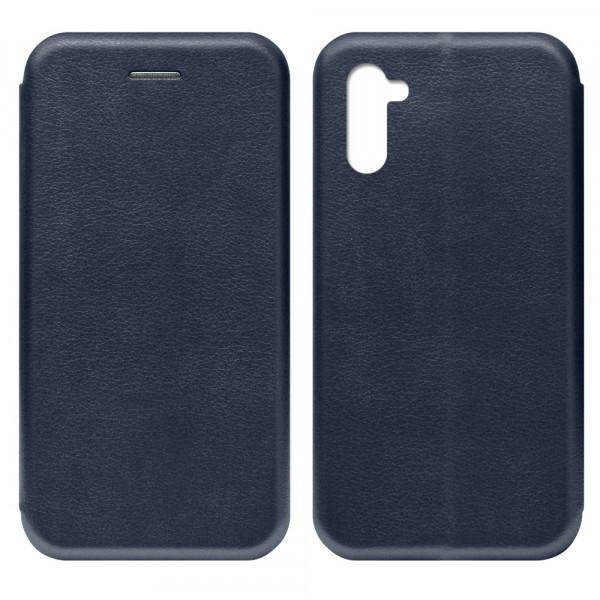 Samsung Note 10 Чехол-книжка с силиконовой вставкой + магнит CASE, тёмно-синий
