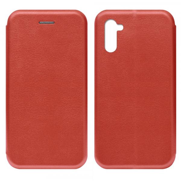 Samsung Note 10 Чехол-книжка с силиконовой вставкой + магнит CASE, красный