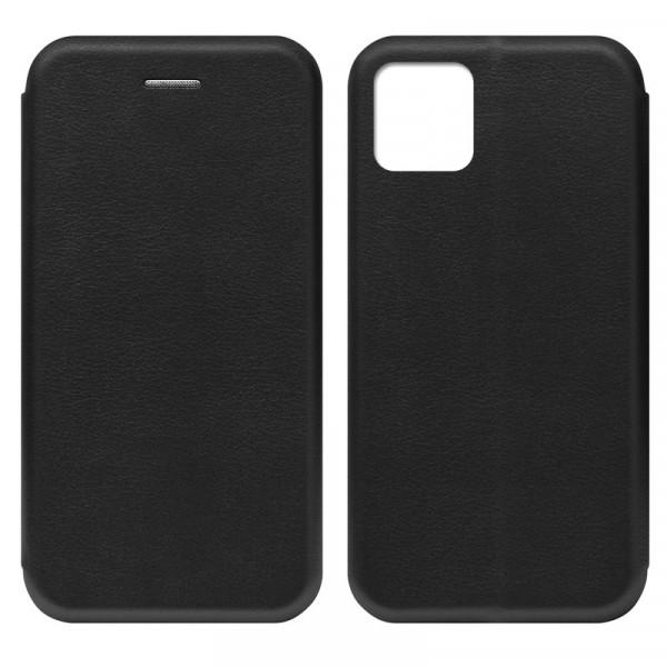 """iPhone 11 Pro (5.8"""") Чехол-книжка с силиконовой вставкой + магнит CASE, чёрный"""