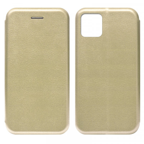"iPhone 11 Pro (5.8"") Чехол-книжка с силиконовой вставкой + магнит CASE, золото"