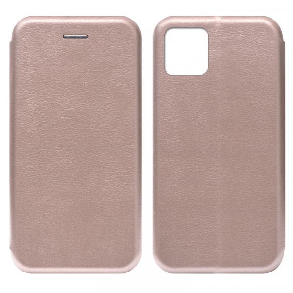 "iPhone 11 Pro Max (6.5"") Чехол-книжка с силиконовой вставкой + магнит, розовое золото"