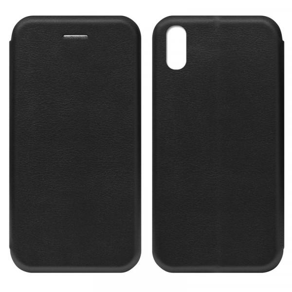 iPhone XR Чехол-книжка с силиконовой вставкой + магнит, чёрный