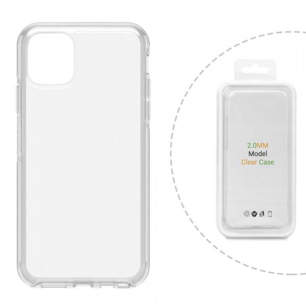 """iPhone 12 (6.7"""") Бампер силиконовый прозрачный (блистер)"""