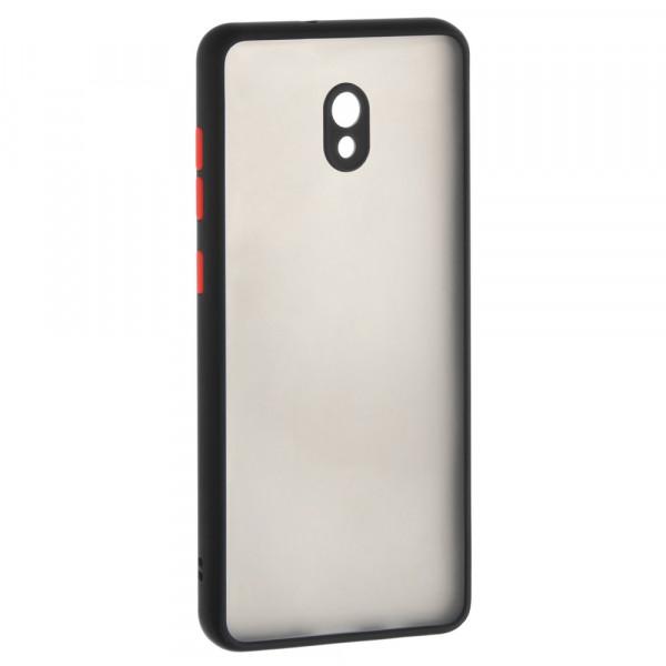 Xiaomi Redmi 8A Бампер пластиковый матовый с защитой камеры, ободок чёрный