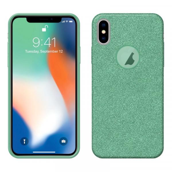 iPhone XS MAX Бампер силиконовый блестящий, зелёный