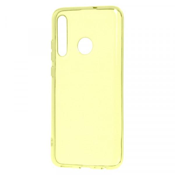 Honor 20i/Huawei P Smart+ (2019) Бампер силиконовый прозрачный, жёлтый (блистер)
