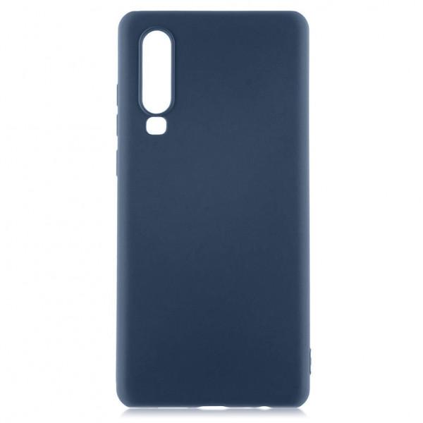 Huawei P30 Бампер силиконовый матовый синий
