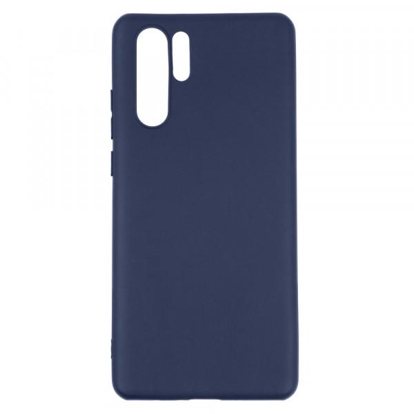 Huawei P30 Pro Бампер силиконовый матовый синий