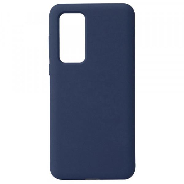 Huawei P40 Бампер силиконовый матовый синий