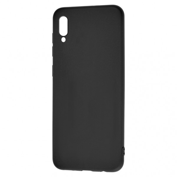 Huawei Y6 Pro (2019) Бампер силиконовый матовый чёрный (вид 2)