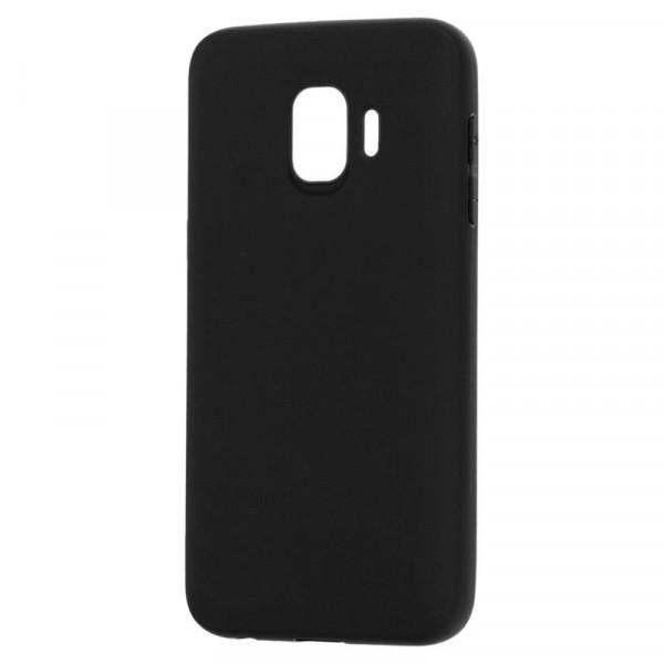 Samsung J2 Core Бампер силиконовый матовый чёрный