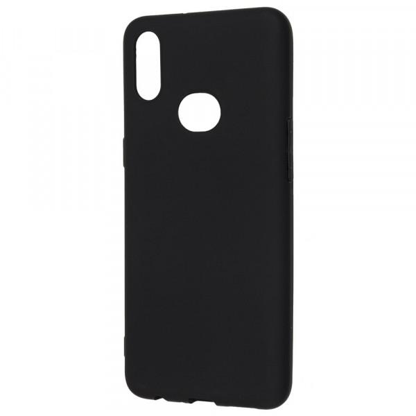 Samsung A10s Бампер силиконовый матовый чёрный