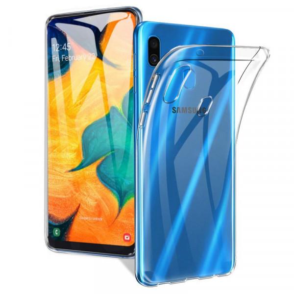 Samsung A20/A30 Бампер силиконовый прозрачный NEW