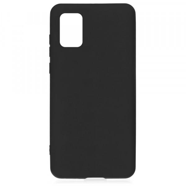 Samsung A71 Бампер силиконовый матовый чёрный