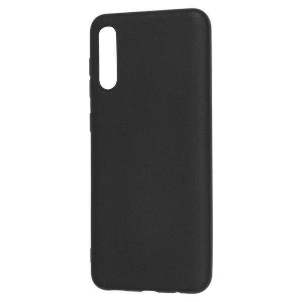 Samsung A50 Бампер силиконовый матовый чёрный