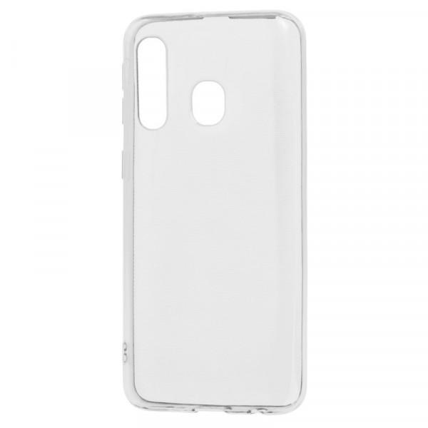 Samsung A60 Бампер силиконовый прозрачный (блистер)