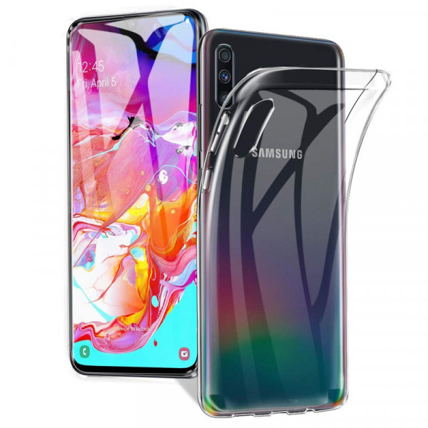 Samsung A70 Бампер силиконовый прозрачный