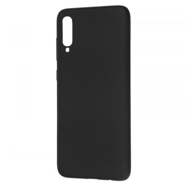 Samsung A70 Бампер силиконовый матовый чёрный NEW