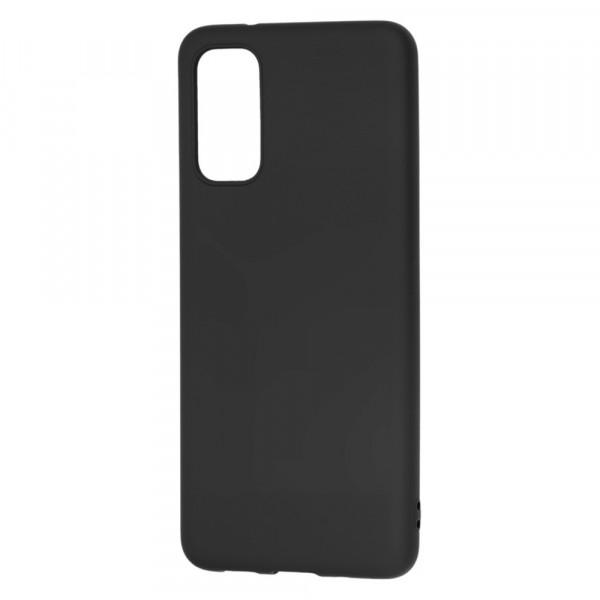 Samsung S20+ Бампер силиконовый матовый чёрный