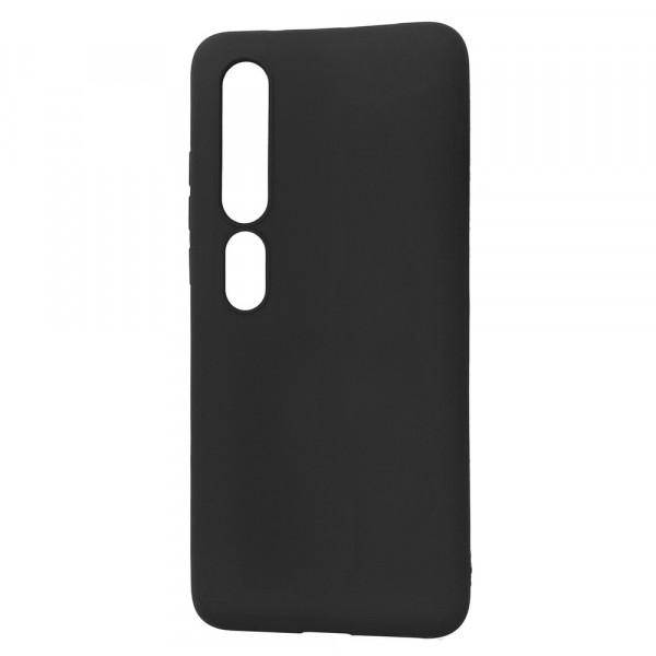 Xiaomi Mi 10 Pro Бампер силиконовый матовый чёрный