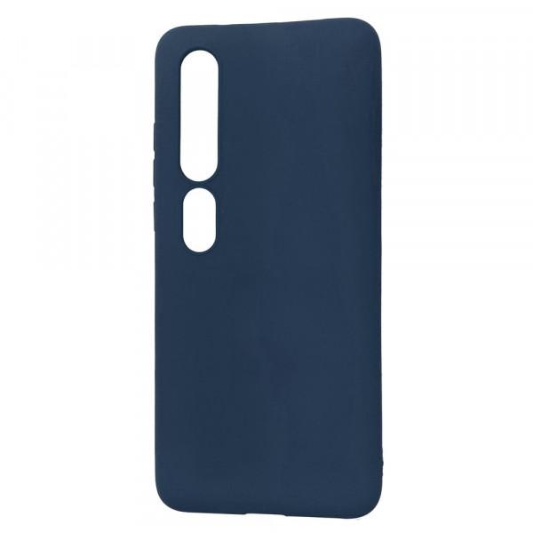 Xiaomi Mi 10 Pro Бампер силиконовый матовый синий